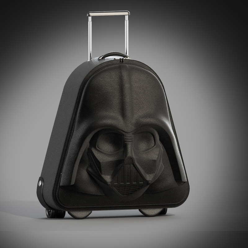 3d model darth vader wheeled suitcase
