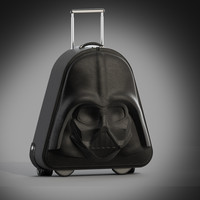 3d model darth vader wheeled suitcase