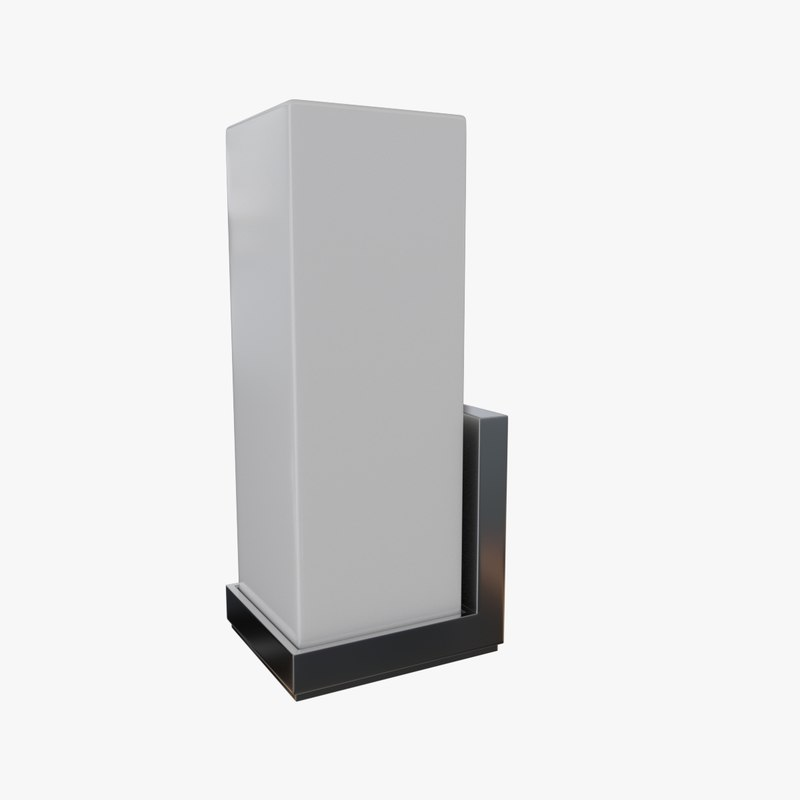 wall lamp sconce 3ds
