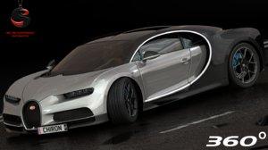3d model of bugatti chiron interior