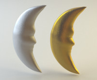moon gold silver 3d max