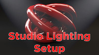 3d light studio setup object