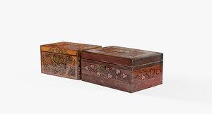 vintage boxes intarsia 3ds