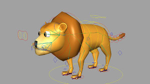 lion rigged 3d model
