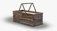 3d model vintage basket
