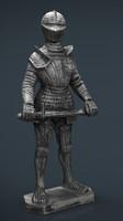 medieval knight obj