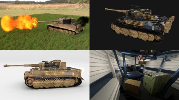 3d model built tiger e late