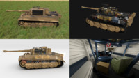 3d model built tiger e late