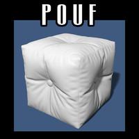 pouf interiors 3d obj