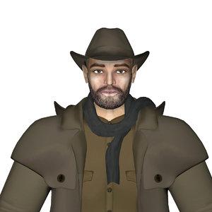 3d model human man