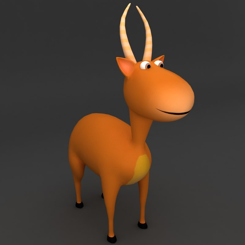3d model stag rigged