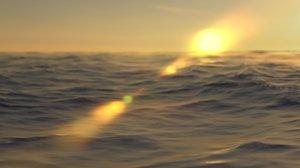 obj ocean sunset