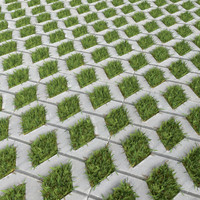 3d paving slabs grass model