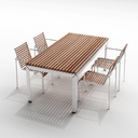 Extremis Extempore garden table and chairs