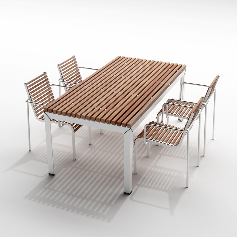 extremis extempore garden table 3d model