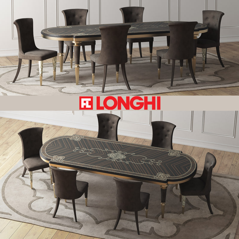 3d model of fratelli layton table marion