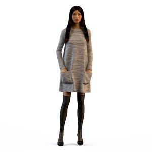 3d model dresses clothing