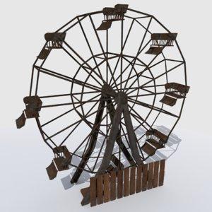 old abandoned ferris wheel fbx