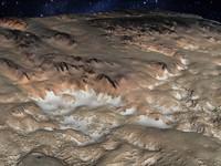 alien terrain mountains 3d model
