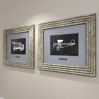 3d framed vintage model