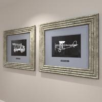 3d framed vintage model