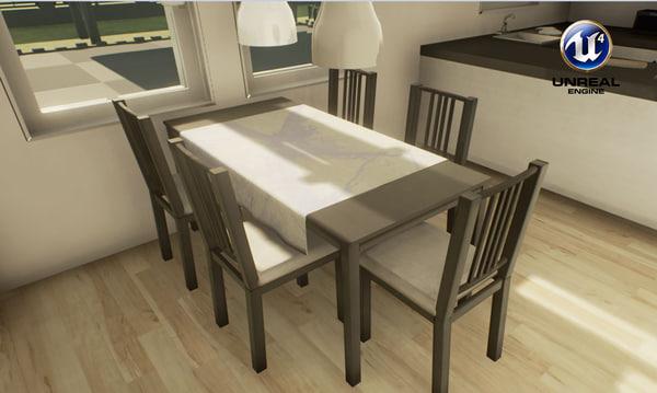 Mesa de comedor IKEA y gabinete de porcelana - Game Ready