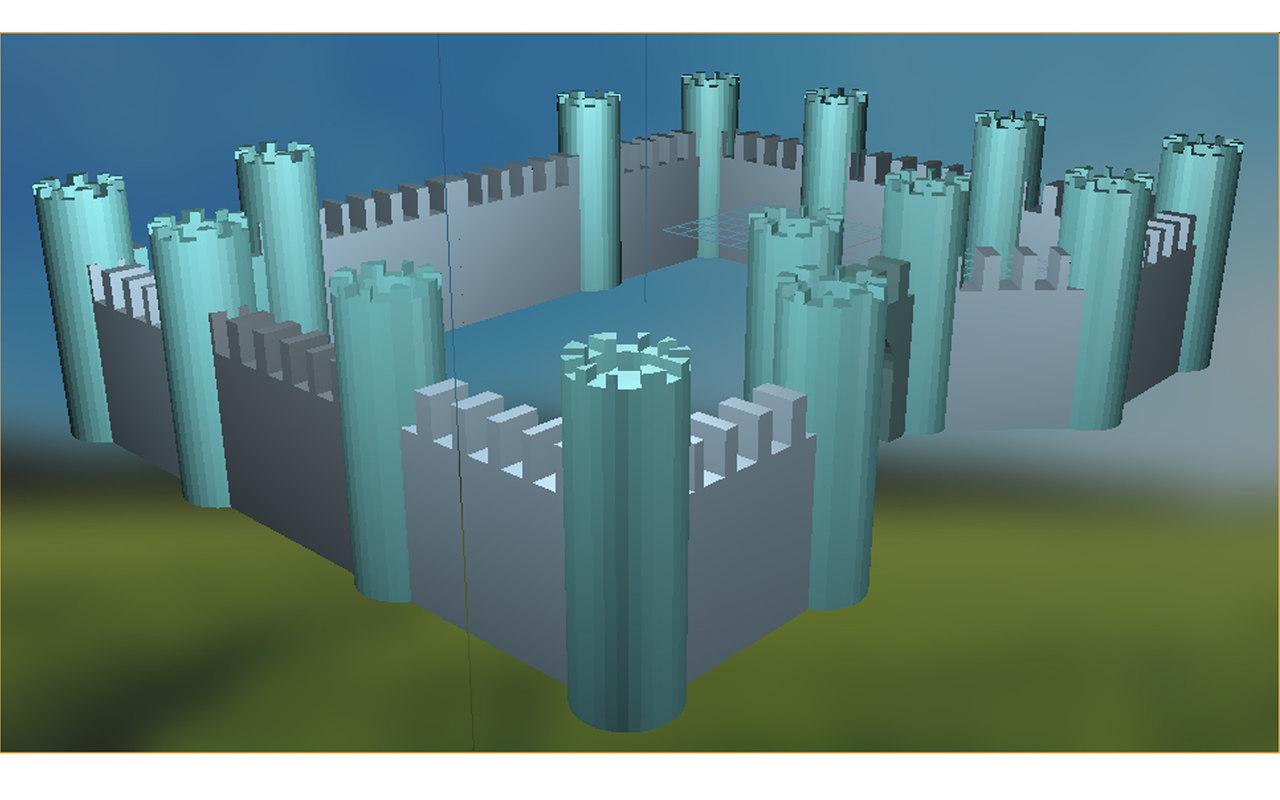 3d model fortress