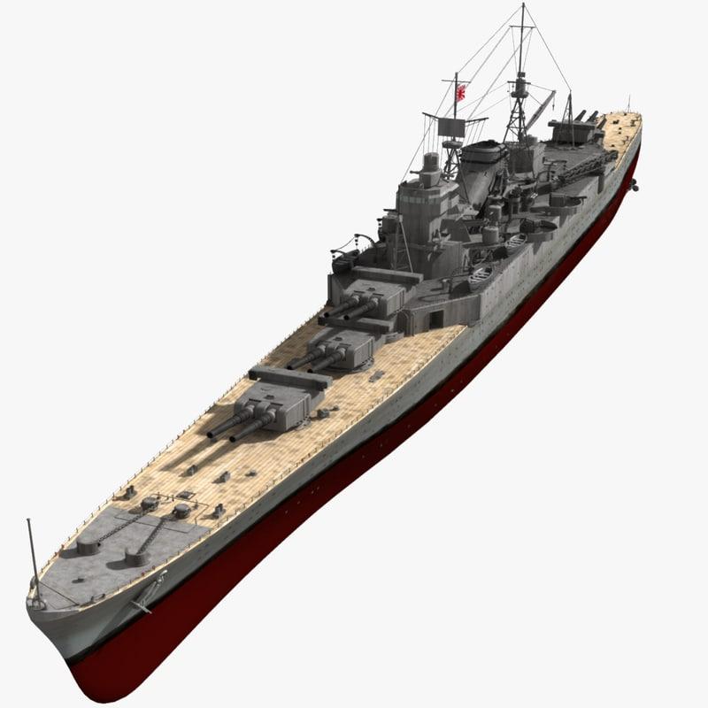 3ds japanese battleship cruiser battle