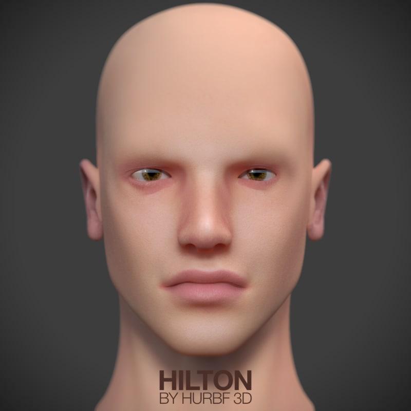 guy hilton nerd 3d model