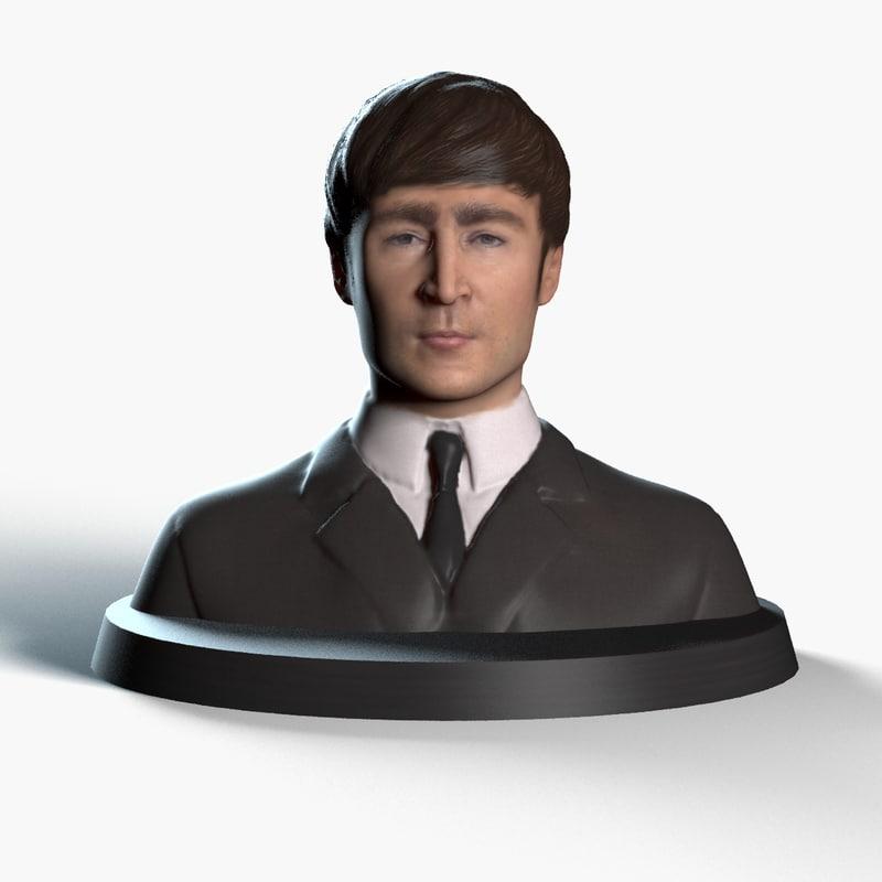 3d model john lennon printing