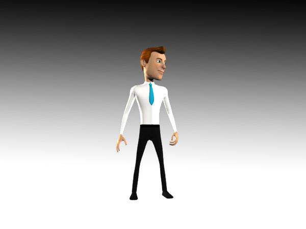 cartoon business 3d model