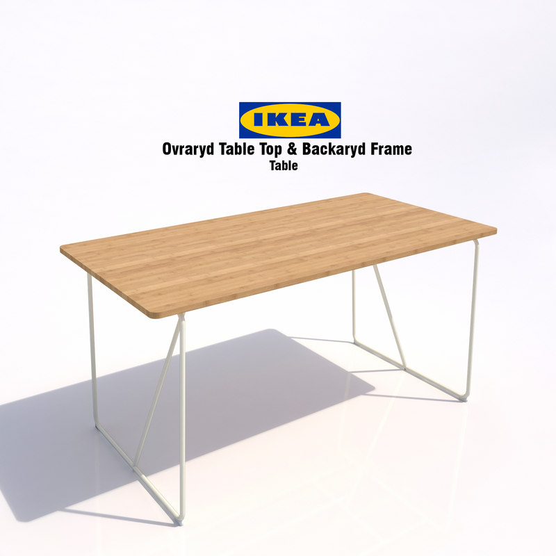 ikea ovraryd table 3d model. Black Bedroom Furniture Sets. Home Design Ideas