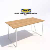 ikea ovraryd table 3d model