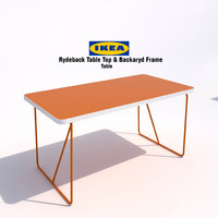 3d model of ikea rydeback table