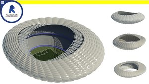 3d parametric stadium - computational model