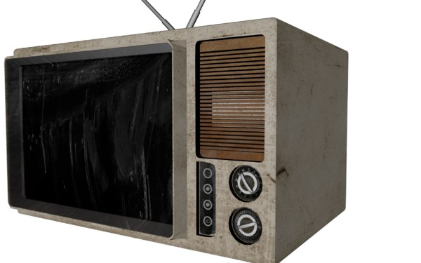 old retro tv 3d model