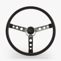 steering wheel car materials 3d model