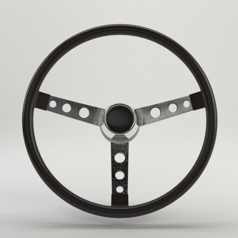 steering wheel car materials 3d model