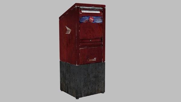 3d obj canada mailbox
