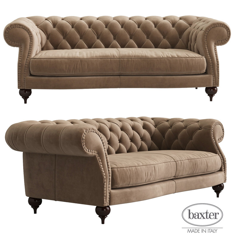 3d baxter diana chester 2-seat model
