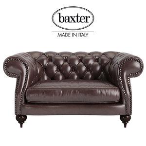 3d model baxter diana chester armchair