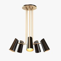 3ds rejuvenation cypress 5-arm chandelier