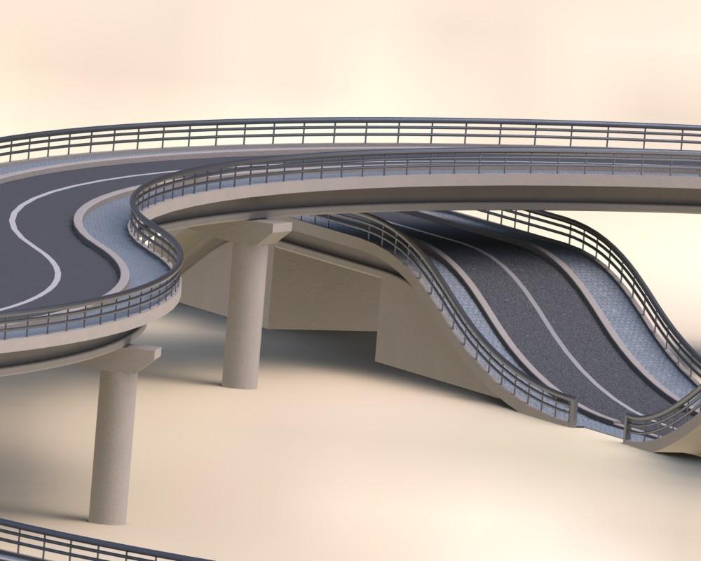 road bridge 3d model