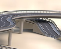 road bridge 3d obj
