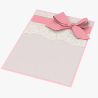baby shower invitation pink 3d c4d