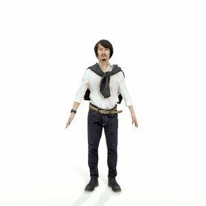 3d model of axyz character human