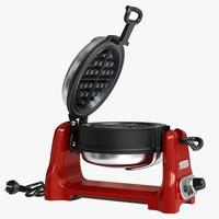 3d kitchen waffle baker model