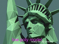 Statue of Liberty LOW POLY