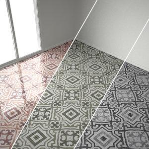 3d 3 marble flooring classic model