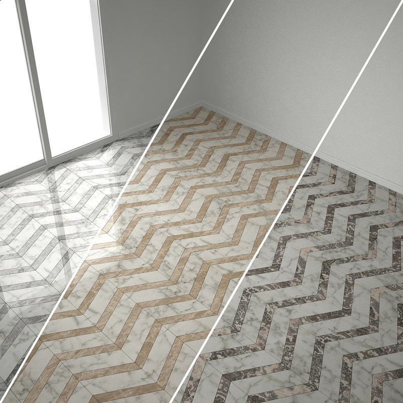 3d model marble flooring herringbone 6